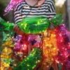 Гирлянда в виде конфет для детского праздника