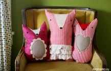Прикольные подушки лисята своими руками