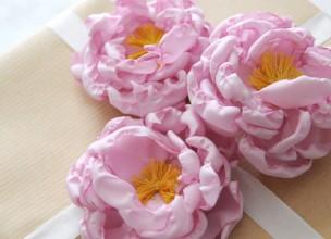 Цветы из органзы своими руками