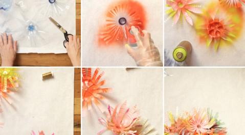 Цветы из пластиковых бутылок своими руками