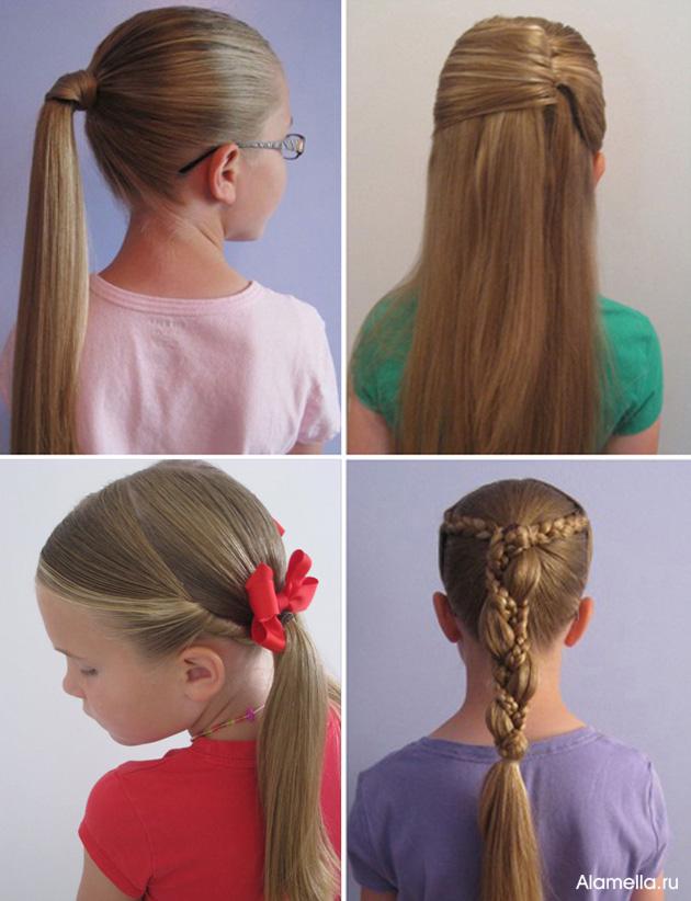 Детские прически с косами для