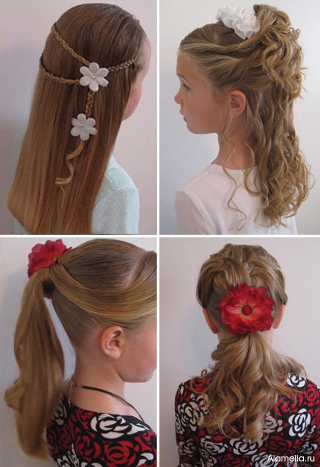 Вечерняя причёска для девочки на длинные волосы