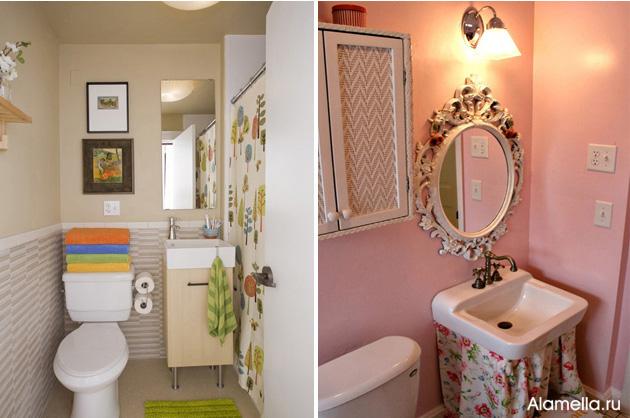 Фото интерьер ванной комнаты маленького размера без туалета
