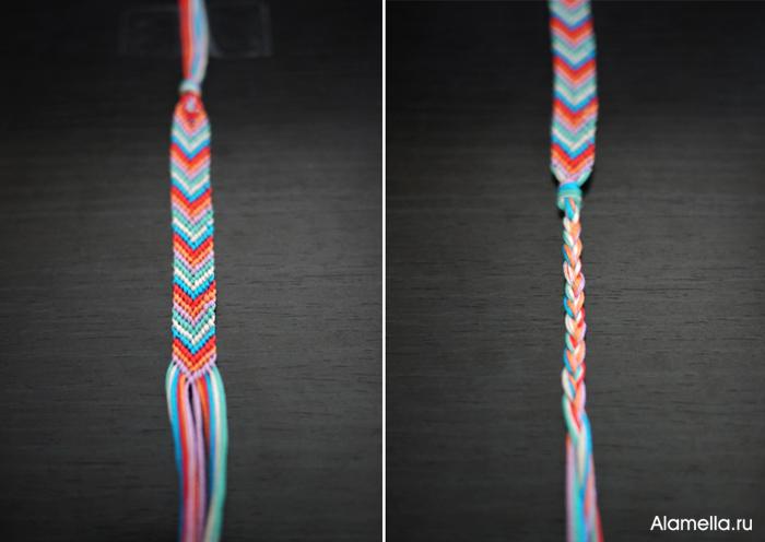 схему плетения фенечки