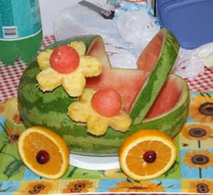 Поделка из овощей и фруктов своими руками