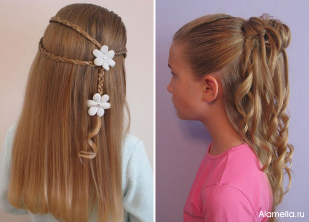 Прическа на длинные волосы самой себе быстро и легко в школу