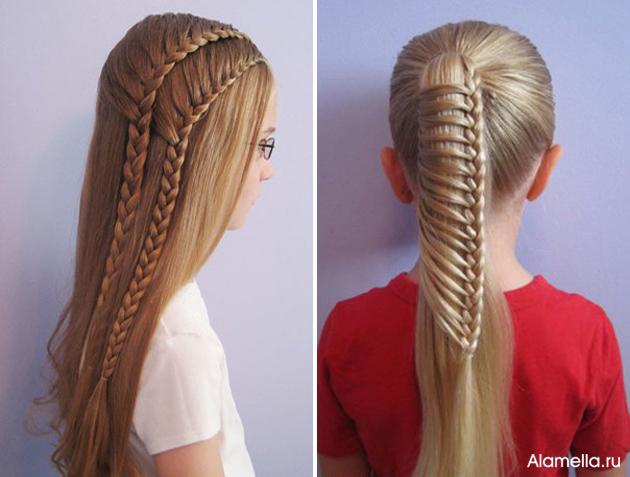Стрижка для девочек на длинные волосы