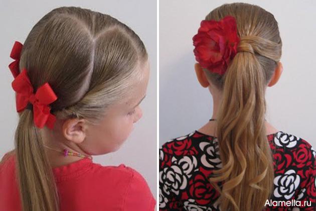 Прическу для девочек с длинными волосами в школу