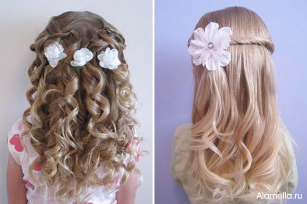Прическа для девочки на короткие жидкие волосы картинки - 97