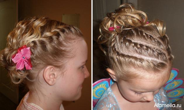 Прически детские на выпускной на средний волос фото