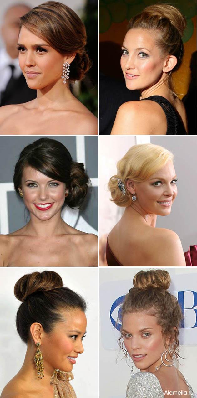 Интересные причёски на волосы средней длины