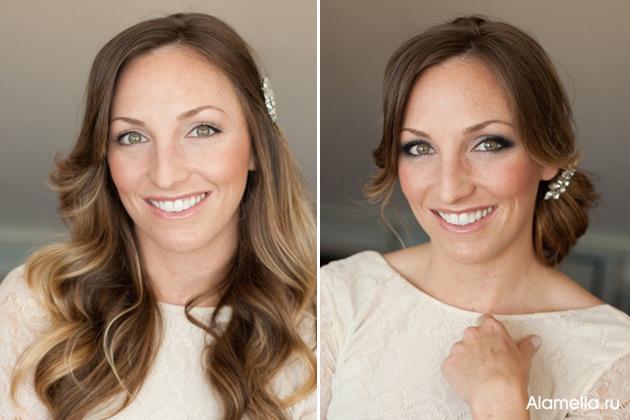 Свадебный макияж своими руками фото
