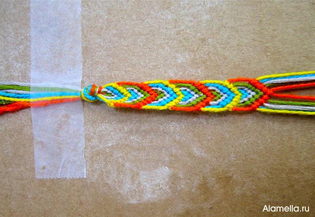 как делать браслеты из ниток своими руками Alamellaru
