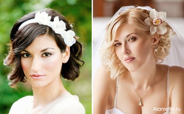 Прическа свадьба короткая стрижка