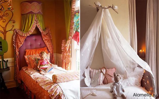 Балдахин над детской кроватью своими руками фото