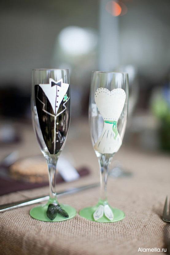Свадебный стол украсить своими руками