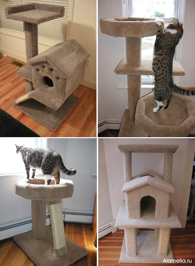 Сделать дом для кошки легко