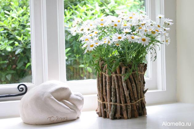 Горшки для комнатных цветов своими руками