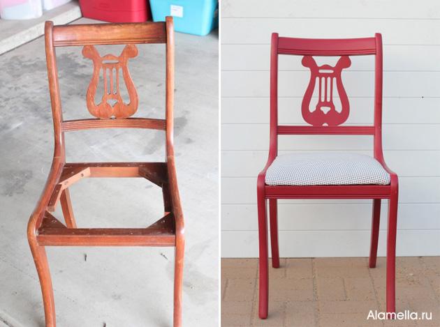 Как сделать перетяжку стула