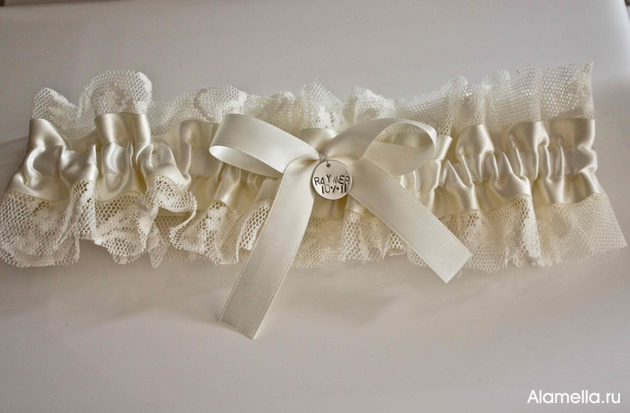 Как сделать самим подвязку для невесты