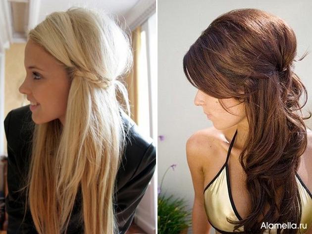 Причёски на длинные волосы с начёсом