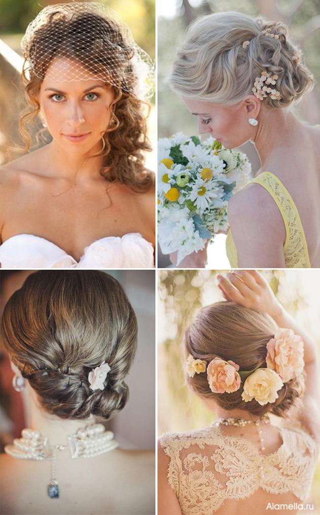 Свадебных причесок на длинные волосы