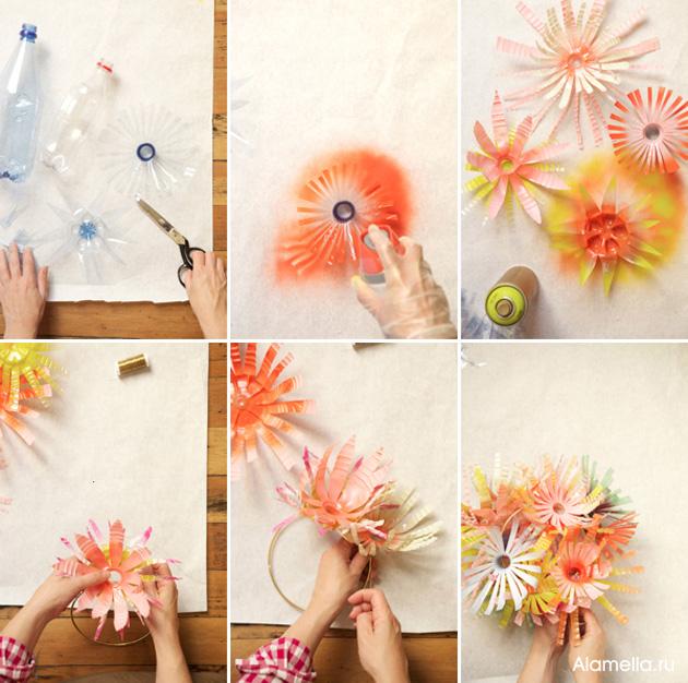 Как сделать цветы из бутылки своими руками