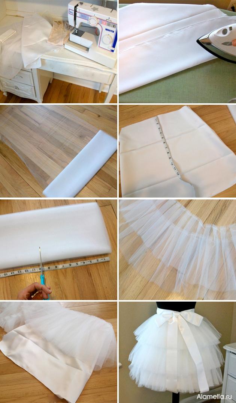 Как сшить юбки из фатина фото 89